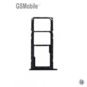 Bandeja de cartão SIM e MicroSD Samsung A11 Galaxy A115 Preto