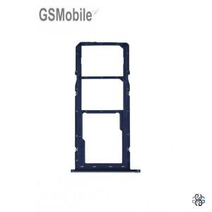 Bandeja de cartão SIM e MicroSD Samsung A11 Galaxy A115F Azul