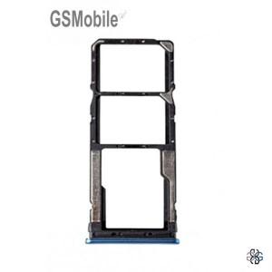 Xiaomi Poco M3 SIM card and MicroSD tray blue