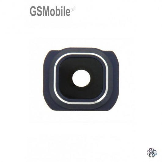Vidro da câmera traseira com frame Samsung S6 Edge Plus Galaxy G928F Preto
