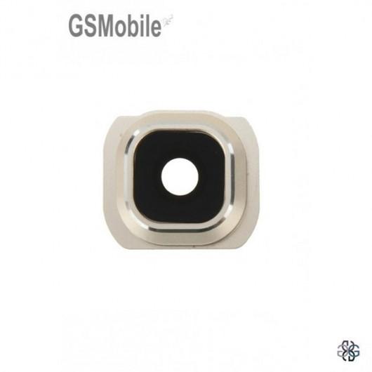 Vidro da câmera traseira com frame Samsung S6 Edge Plus Galaxy G928F dourado