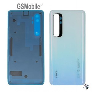 Tampa traseira branca para Xiaomi Mi Note 10 Lite Original