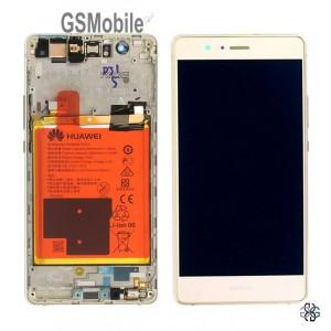 Ecrã - Display LCD Touch Huawei P9 Lite Dourado Original