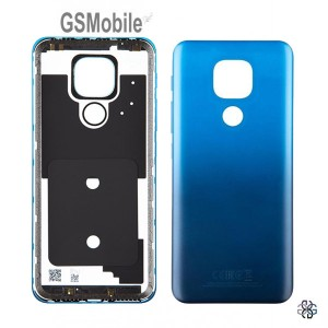 Motorola Moto E7 Plus Battery Cover blue Original