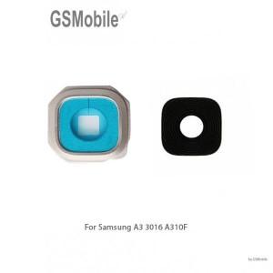 Samsung A3 2016 Galaxy A310F Camera Lens with frame - Silver