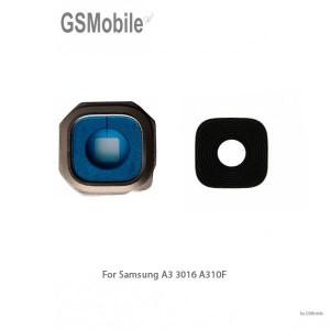 Samsung A3 2016 Galaxy A310F Camera Lens with frame - black