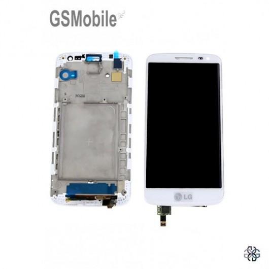 Pantalla completa con marco LG G2 MIni D620 blanco