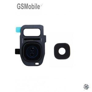 Vidro da câmera traseira con frame Samsung S7 Galaxy G930F Preto