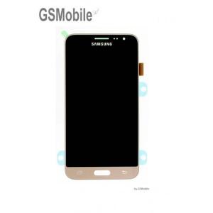 Ecrã - Display LCD Touch Samsung J3 2016 Galaxy J320F Dourado Original