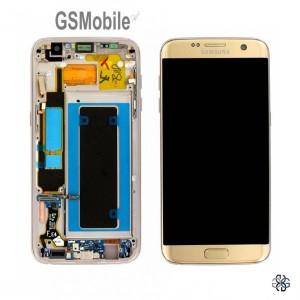 Ecrã - Display LCD Touch Samsung S7 Edge Galaxy G935F Dourado Original