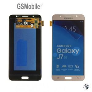 Ecrã - Display LCD Touch Samsung J7 2016 Galaxy J710F Dourado Original