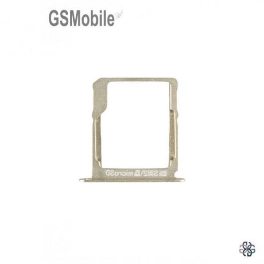 Bandeja do cartão SD dourada Samsung A3 Galaxy A300F