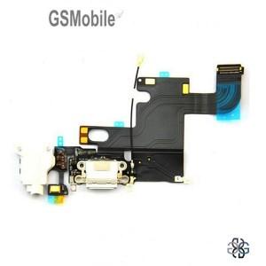Conector de carregamento flexível para iPhone 6G Branco - Vendas de peças sobressalentes em Portugal