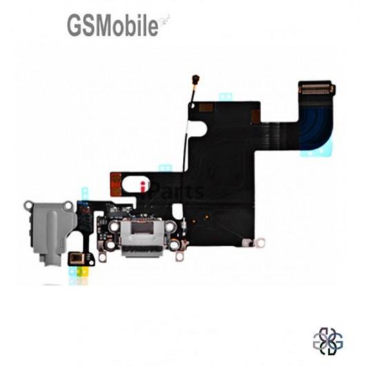 Conector de carregamento flexível para iPhone 6G Preto - Vendas de peças sobressalentes em Portugal