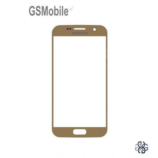 Vidro Dianteiro dourado para Samsung S7 Galaxy G930F