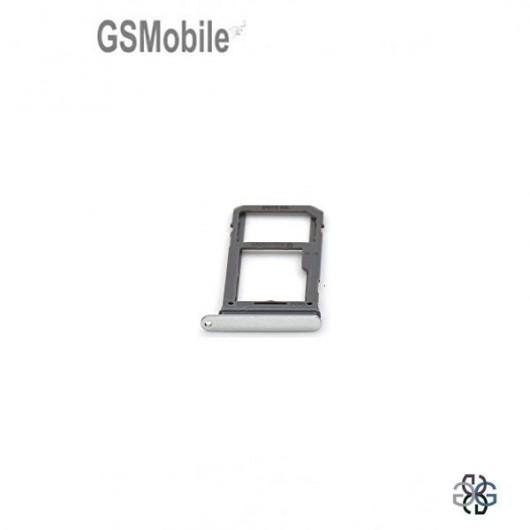 Bandeja de cartão SIM e MicroSD prata Samsung S8 Plus Galaxy G955F