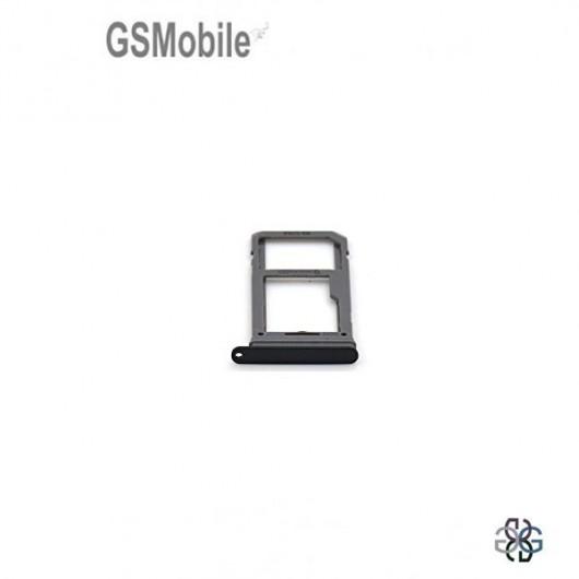 Bandeja de cartão SIM e MicroSD preta Samsung S8 Plus Galaxy G955F