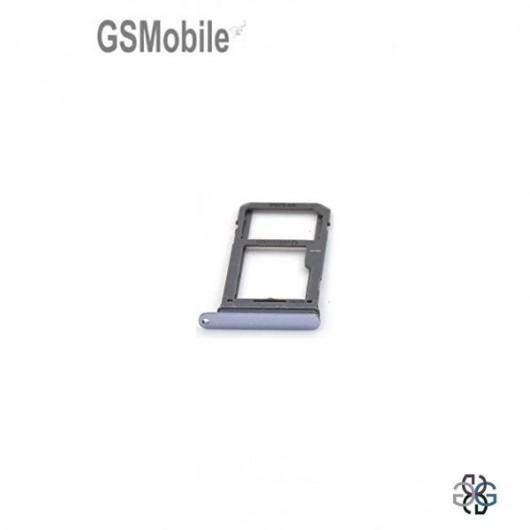 Bandeja SIM & MicroSD violeta Samsung S8 Plus Galaxy G955F