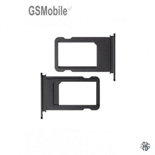 Sim Tray for iPhone  7G Plus Black - sales of apple spare parts