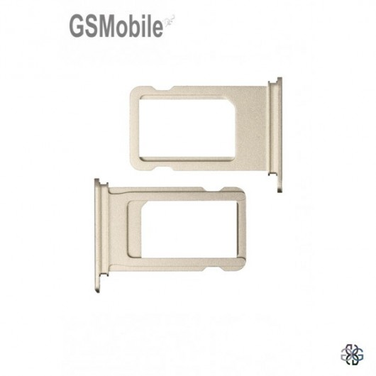 Sim Tray for iPhone  7G Plus Gold - sales of apple spare parts