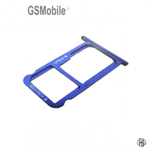 SIM card and MicroSD tray Honor 8 Blue Original