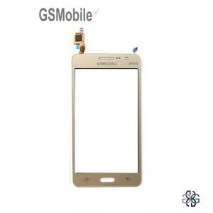 Ecrã Touch Screen dourado Samsung Grand Prime Galaxy G530