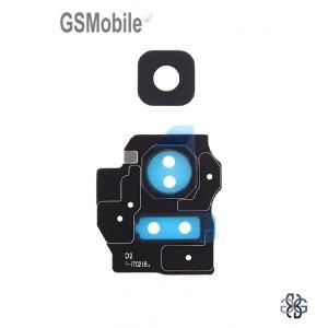 Vidro da câmera traseira con frame Samsung S8 Plus Galaxy G955F Preto