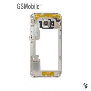 Samsung S6 Edge Galaxy G925F Middle cover gold - SWAP