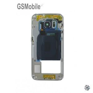 Samsung S6 Edge Galaxy G925F Middle cover black - SWAP