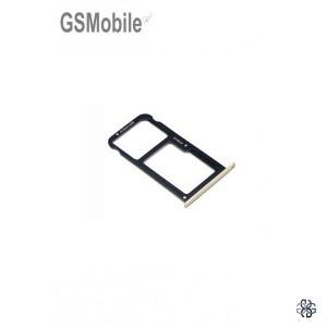 Huawei P8 Lite 2017 SIM card and MicroSD tray gold - Original