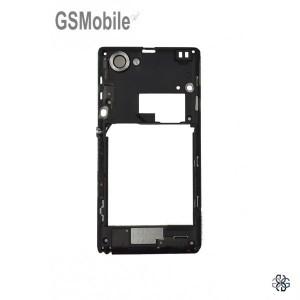 Chassi intermediário preto para Sony Xperia L