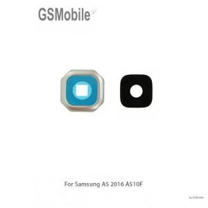 Samsung A5 2016 Galaxy A510F Camera Lens with frame - gold