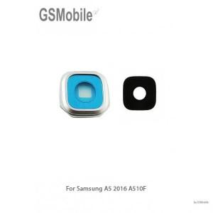 Samsung A5 2016 Galaxy A510F Camera Lens with frame - Silver