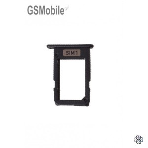 Bandeja do cartão SIM preta Samsung J7 2017 Galaxy J730F