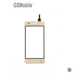 Ecrã Touch Screen dourado para Huawei Y3 II 4G