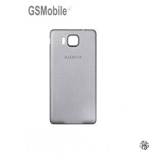 Tampa traseira para Samsung Alpha Galaxy G850F Prateado