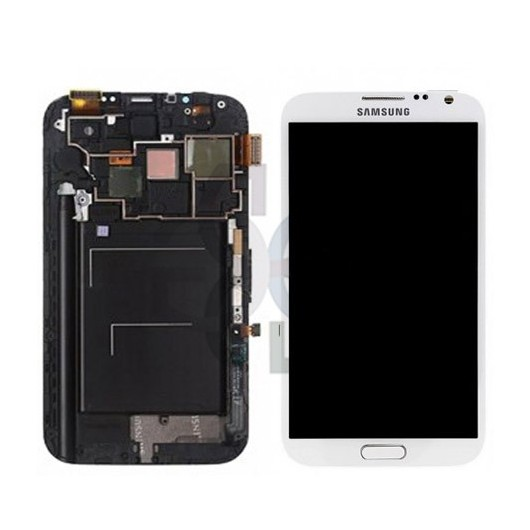 Ecrã - Display LCD Touch Samsung Note 2 Galaxy N7100 Branco Original