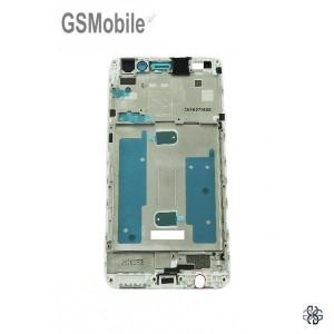 Chassi intermediário branco Huawei Y6 II