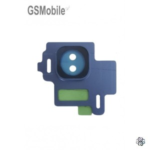 Vidro da câmera traseira con frame Samsung S8 Galaxy G950F Azul