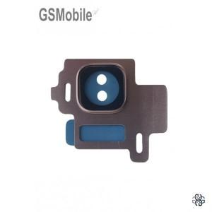 Vidro da câmera traseira con frame Samsung S8 Galaxy G950F Rosa