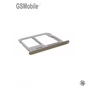 Bandeja de cartão SIM e SD dourada Samsung A3 2016 Galaxy A310F