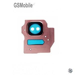 Vidro da câmera traseira con frame Samsung S8 Plus Galaxy G955F Rosa