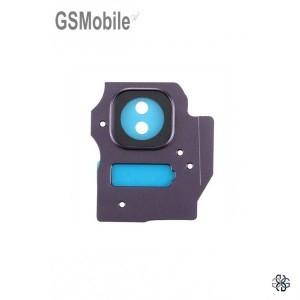 Vidro da câmera traseira con frame Samsung S8 Plus Galaxy G955F Violeta