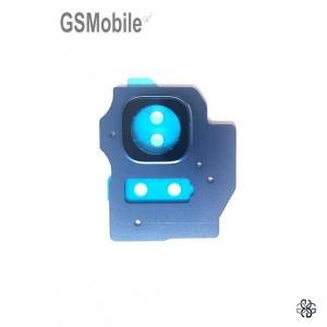 Vidro da câmera traseira con frame Samsung S8 Plus Galaxy G955F Azul