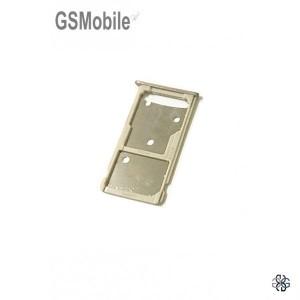 Bandeja de cartão SIM e MicroSD dourada Huawei Honor 5c
