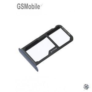 Bandeja de cartão SIM e MicroSD Huawei P10 Lite Azul